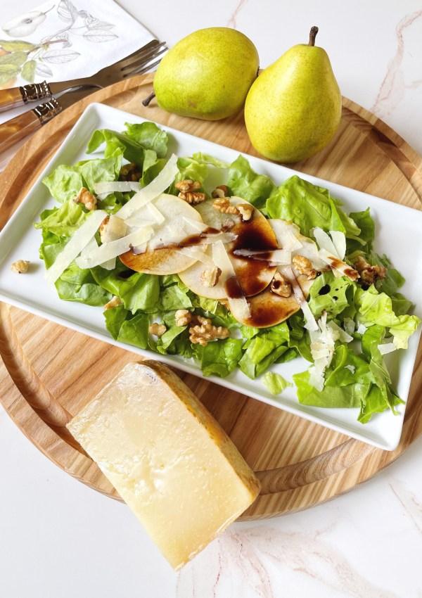 Pear Salad with Walnuts & Pecorino Sardo