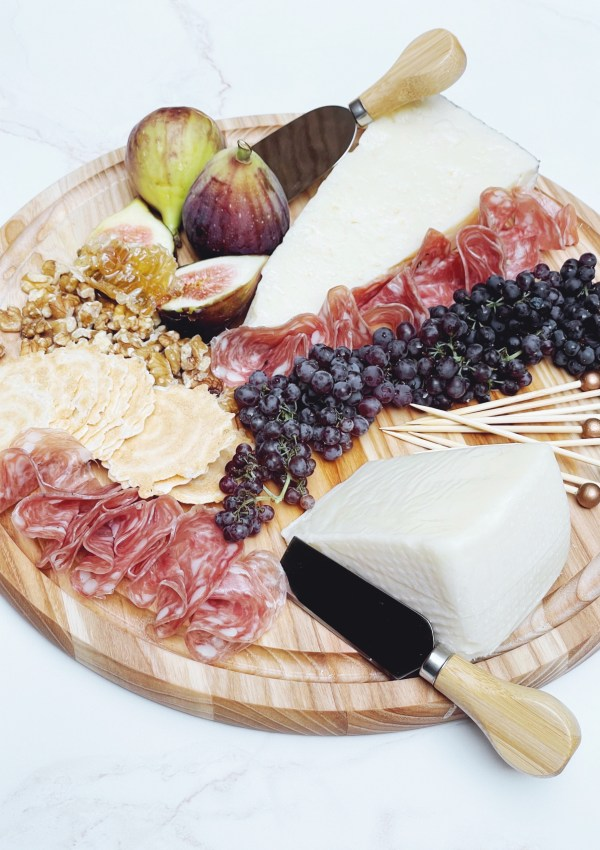 A Tale of Two Cheeses Charcuterie Board