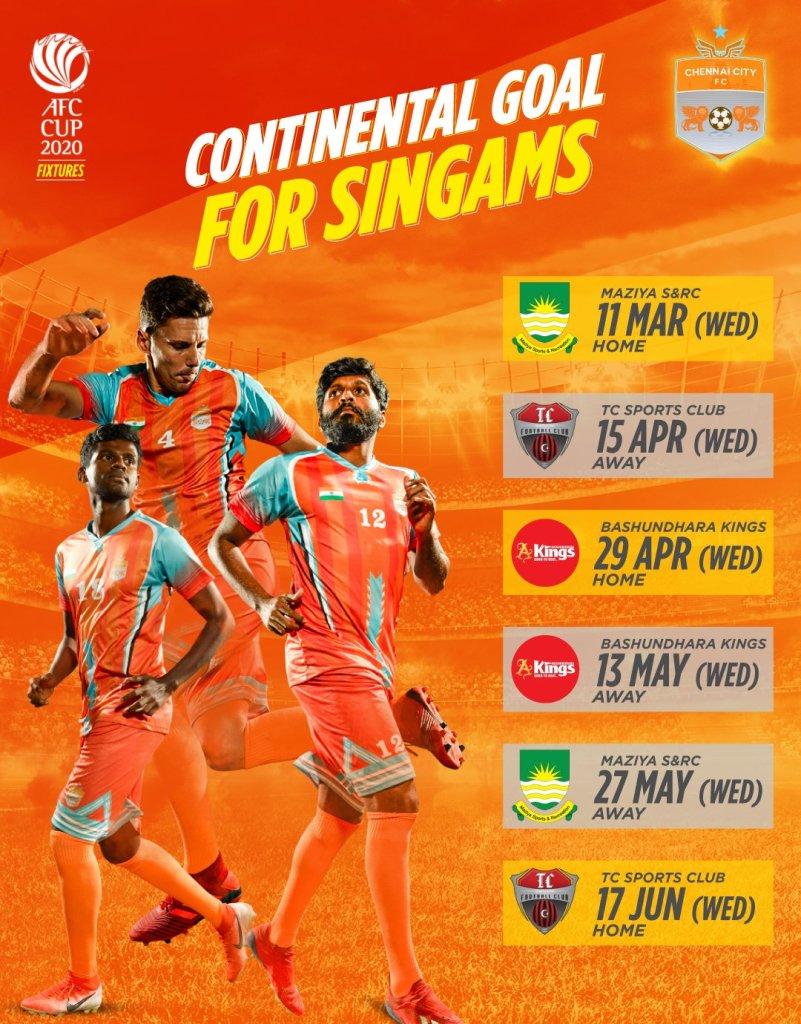 Chennai City FC AFC Cup 2020