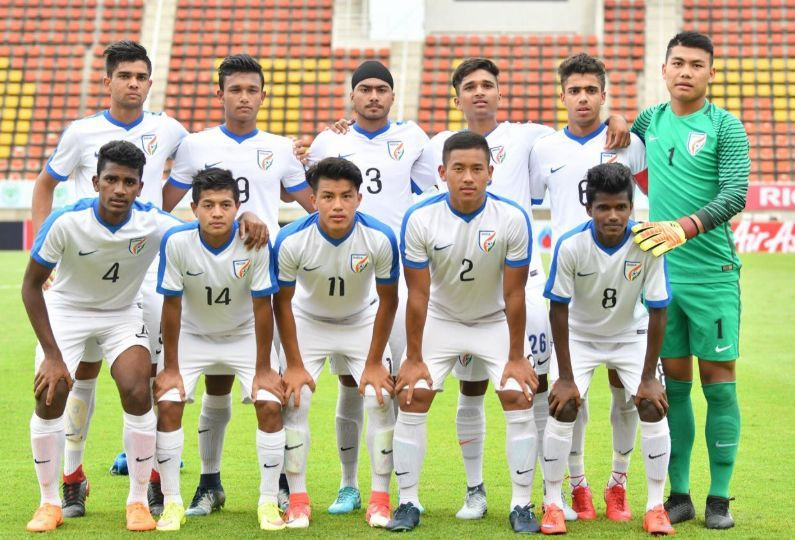 Indian U-16 Football Team in 2018