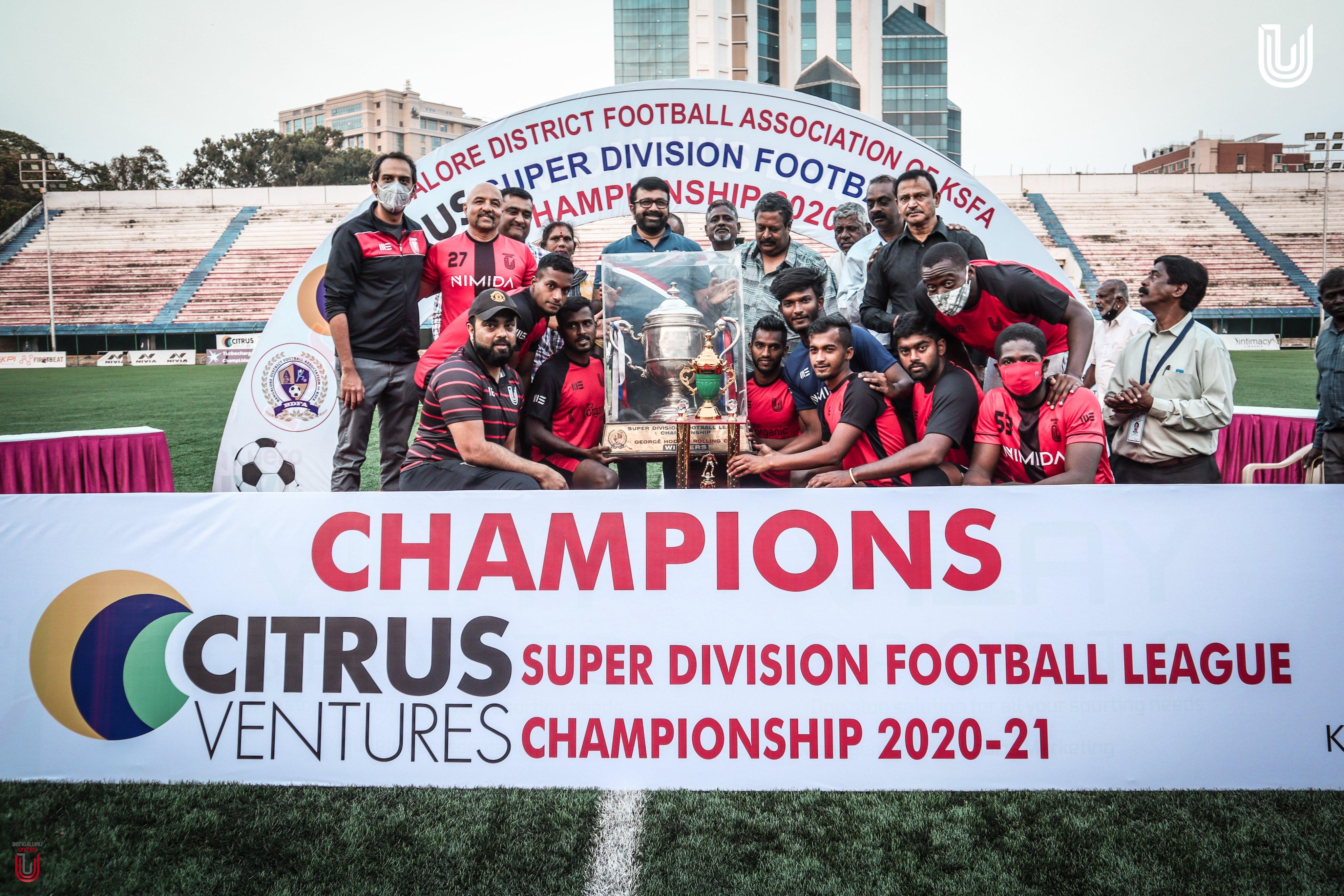 BDFA Super Division League 2020-21 Champions FC Bengaluru United