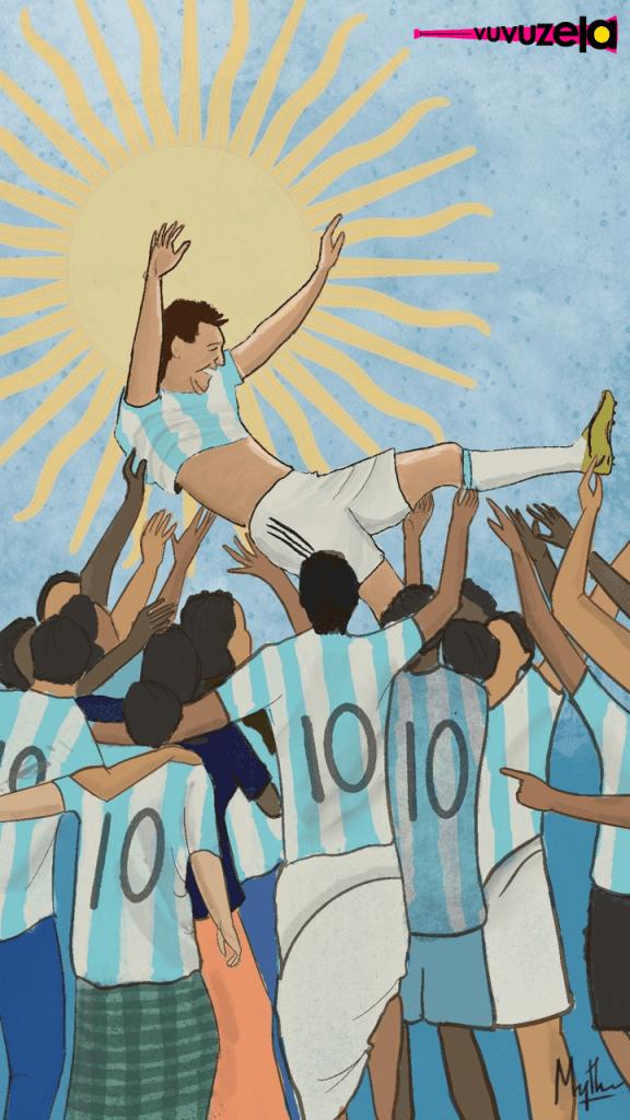 Lionel Messi Copa America 2021 by Artist Mythri