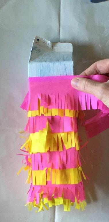 sustainable kids crafts milk carton pinata party diy idea