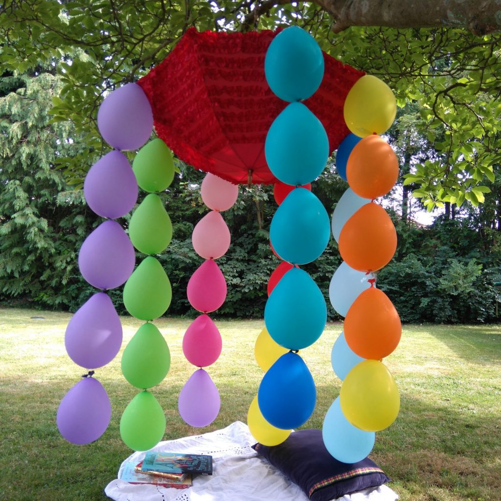 compostable balloons den in a tree