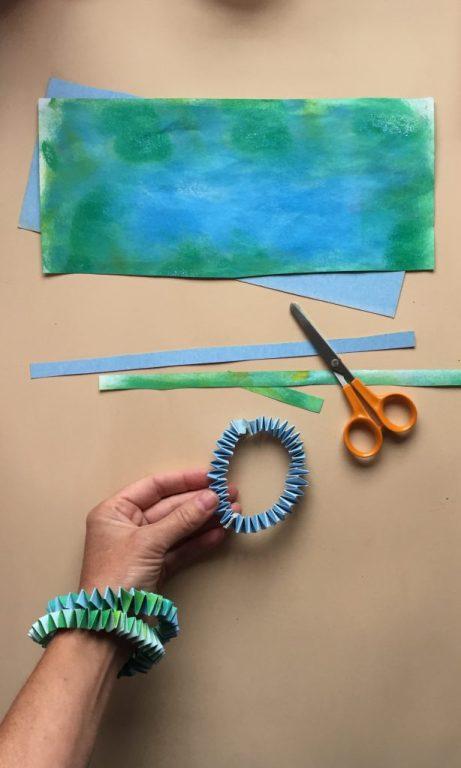 make a geometric 3d paper bracelet a simple paper craft activity diy