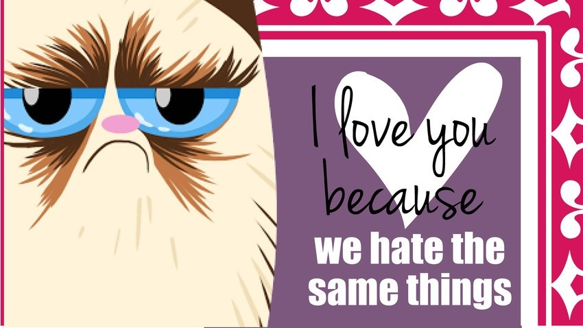 Grumpy Cat Valentine Love Cards For That Special Someone
