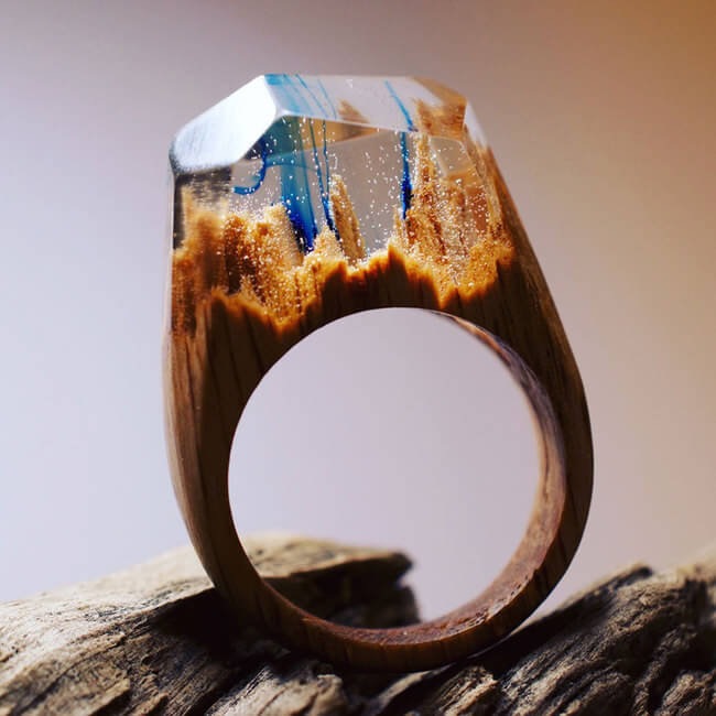 Miniature Wooden Rings 14