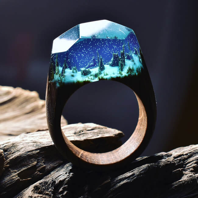 Miniature Wooden Rings 1