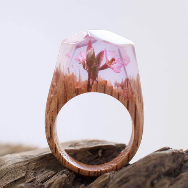Miniature Wooden Rings 2