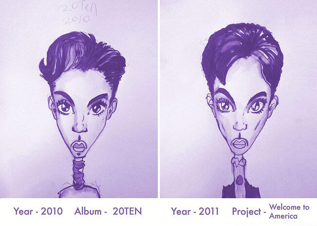 Prince's Hair Styles From 1978 To 2013 18