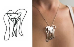 Kid's Drawings Into Jewelry 1