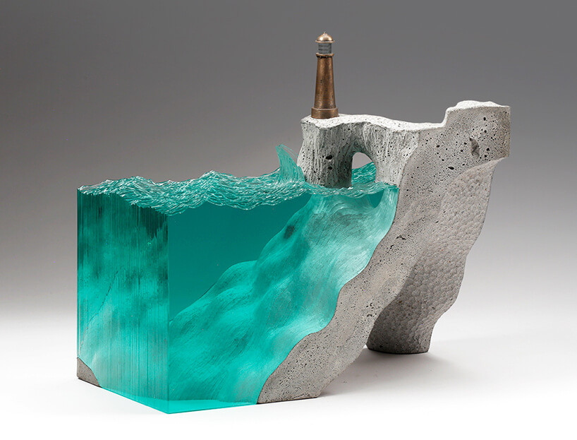Ben Young Layered Glass Art Makes Water Stand Still And