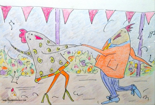 The Awesome Hen dancing