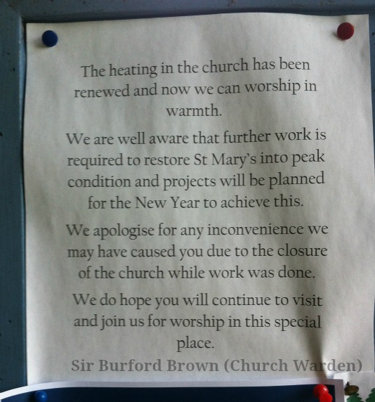 Church notice