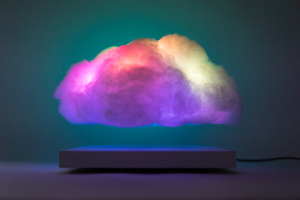 This Floating Cloud Shaped Lamp Flashes Rgb Thunder
