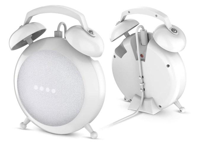 Google Home Mini Into A Retro Alarm Clock