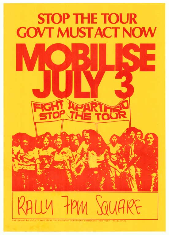 """Mobilise July 3"" - Springbok Tour Poster, 1981"