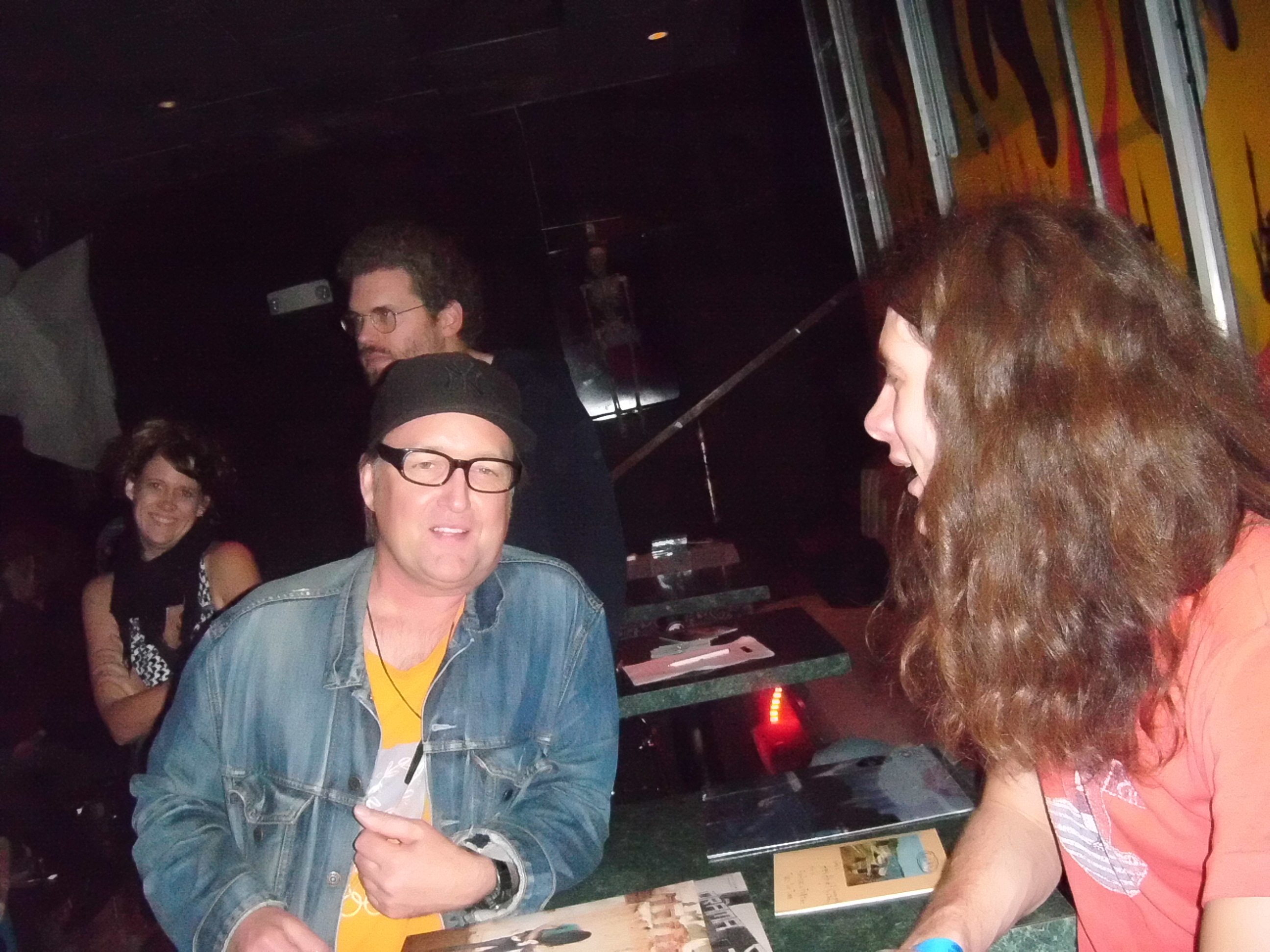 Stu checks if Kurt Vile has that 20 bucks he owes him
