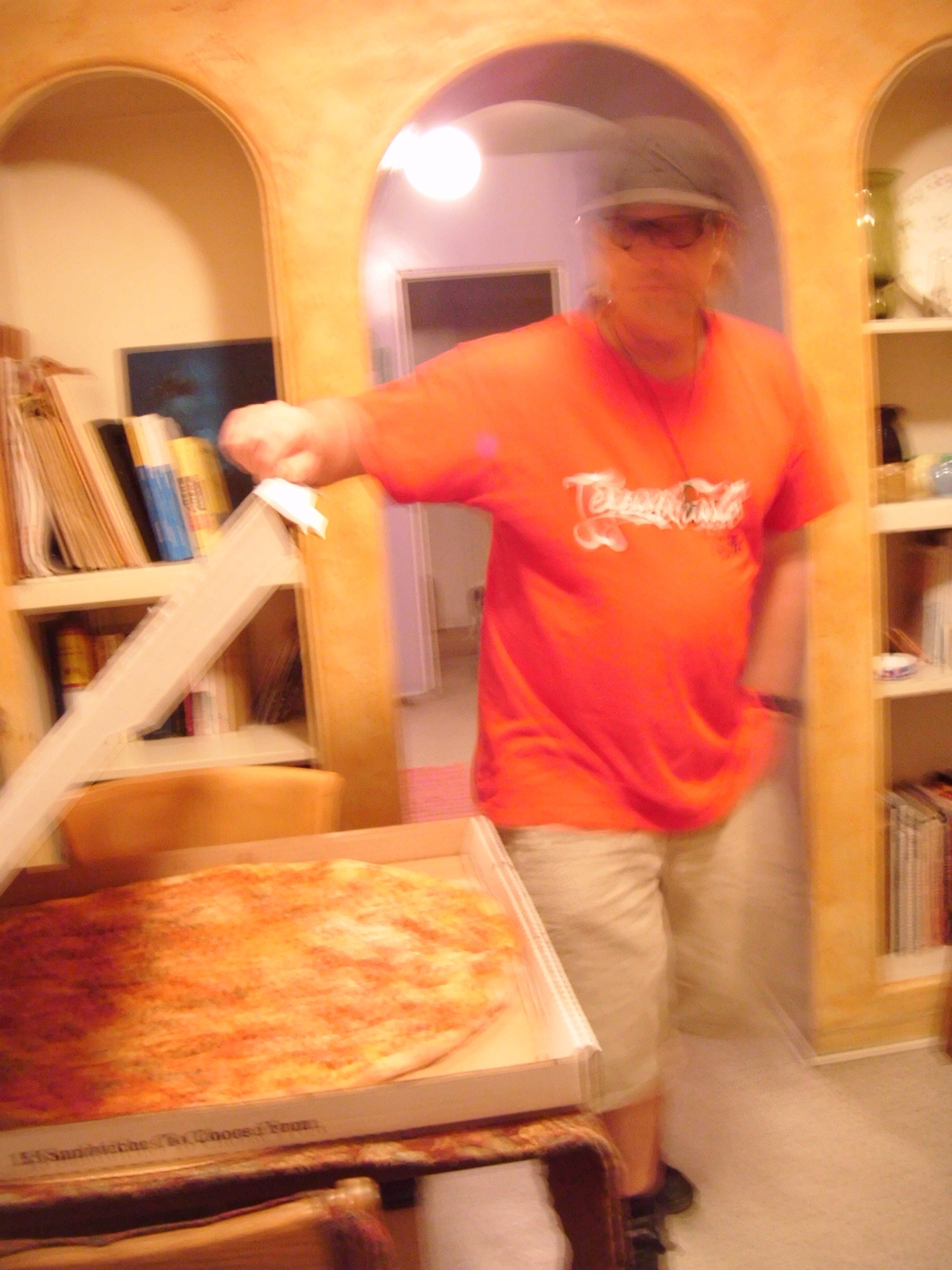 Is that a giant pizza or are you just pleased to see me?