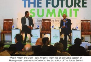 Management through Cricket - JBS and Wasim Akram