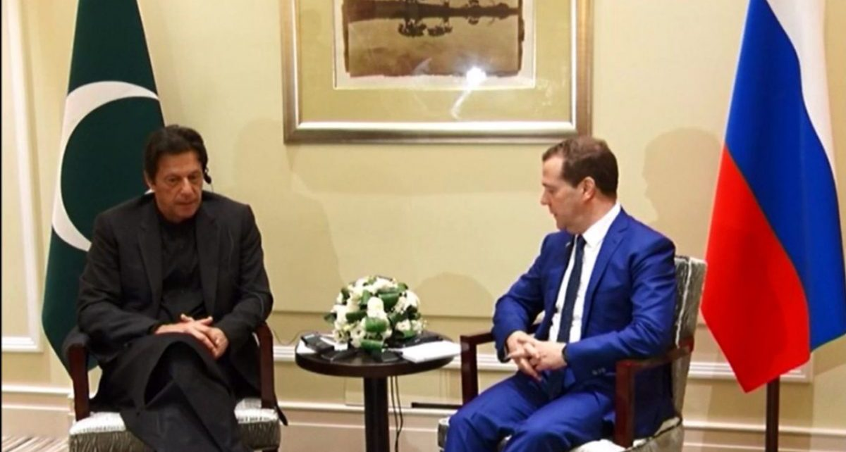 PM Imran & Russian counterpart Medvedev agree to expand bilateral ties