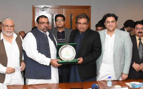Ali Haider Zaidi, Federal Minister Visits Federation of Pakistan Chambers of Commerce and Industry