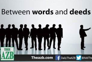 Between words and deeds