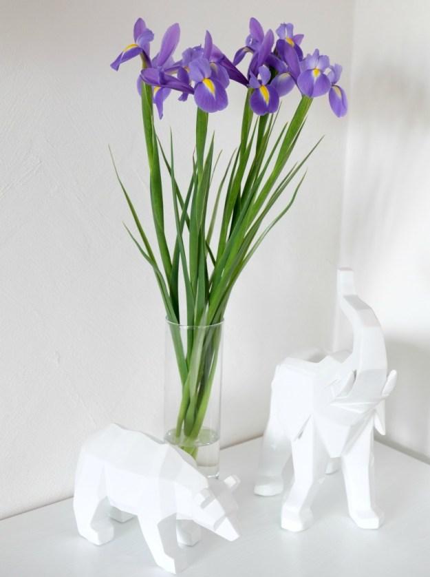 Цветы в вазе - фото