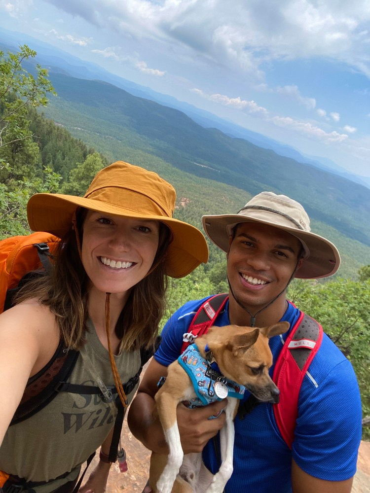 A selfie picture of us at the lookout at the end of the trail