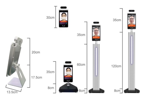Face Recognition Temperature Sensor