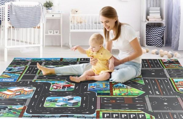 Road Game Mat Carpet Children Kids Car Toys