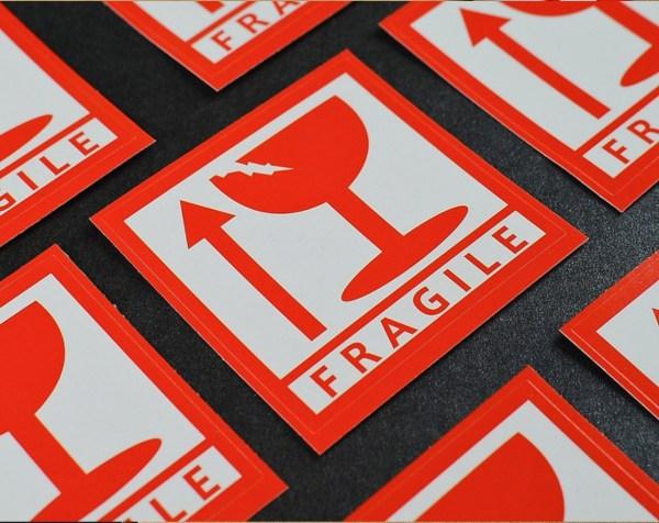Fragile Sticker 2x2