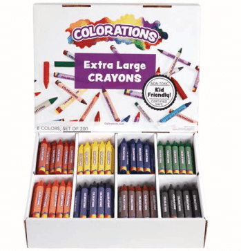 Colorations - 200 Extra Large Crayons