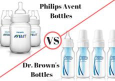 Dr. Brown's vs. Philips Avent Bottles