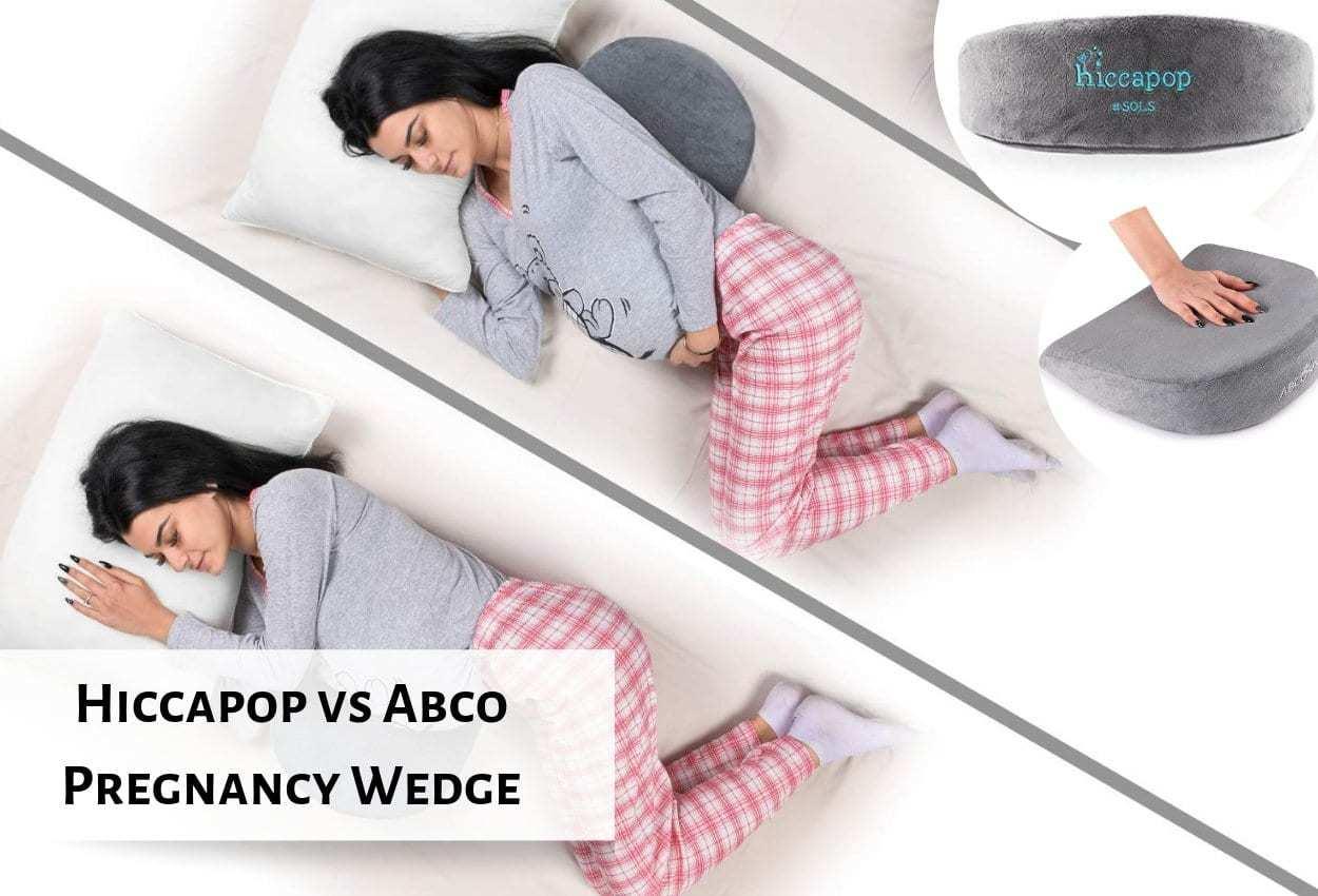 hiccapop pregnancy pillow wedge vs abco