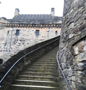 stairs edinburgh castle