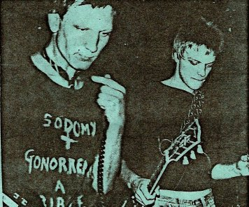 "Peter Griffiths, formerly of the punk rock band ""Spitfire Boys"", later known as ""The White Brothers"" who recorded the 45 song mein kampf in Germany, left."