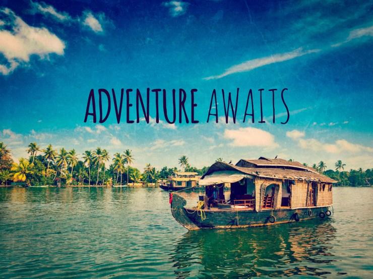 ADVENTURE AWAITS - Free inspirational travel desktop & phone wallpaper