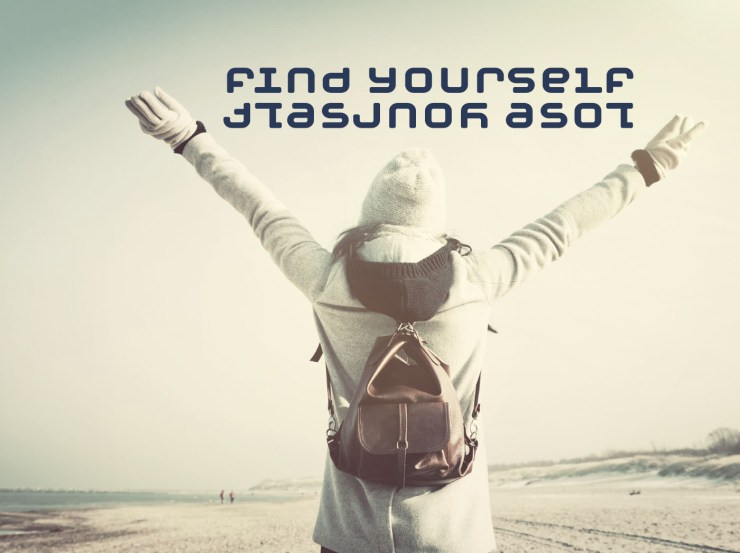 FIND YOURSELF/LOSE YOURSELF - Free inspirational travel desktop & phone wallpaper