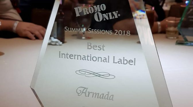 ARMADA MUSIC SNATCHES UP AWARD FOR 'BEST INTERNATIONAL LABEL' AT THE PROMO ONLY SUMMER SESSIONS 2018