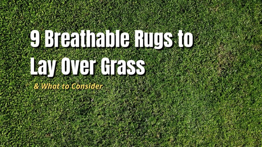 breathable rugs over grass