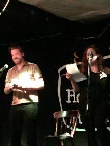 Sam Solomon and Anne Boyer singing 'Darklands'. Image: Juha Vertanen.