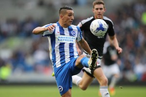 Match action during the EFL Sky Bet Championship game between Brighton and Hove Albion and Nottingham Forest at the American Express Community Stadium, Falmer on the 10th September 2016.