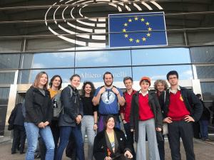 Sussex students talk at European Parliament