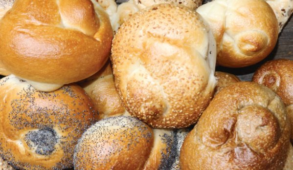 Knotted Rolls from The Bagel Co. Rose Bay. Available for delivery.