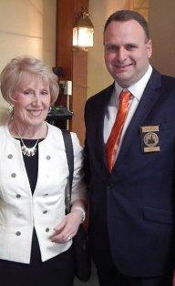 Jason Sheppard with Richardville's mother Glenda Kennon