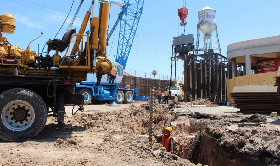 Mexicali-Calexico border crossing underpass construction goes on, under COVID19  protocol, it will be 150 ft. long