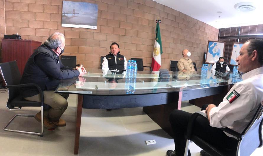 Gira de trabajo del Fiscal general Guillermo Ruiz, la zona sur de Ensenada, en los límiotes con Baja Sur