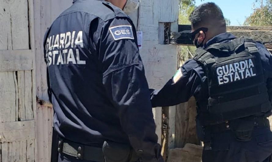 Revientan tiendita en San Felipe detiene Guardia Estatal a dos personas y decomisan droga
