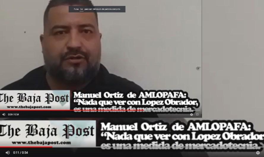 """(video): """"AMLOPAFA no pertenece a López Obrador, es una medida de mercadotecnia por su popularidad"""": Manuel Ortiz"""